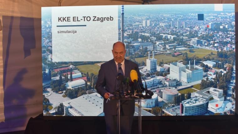 Predsjednik uprave Frane Barbaric otvaranje radova novog bloka KKE EL TO ZG