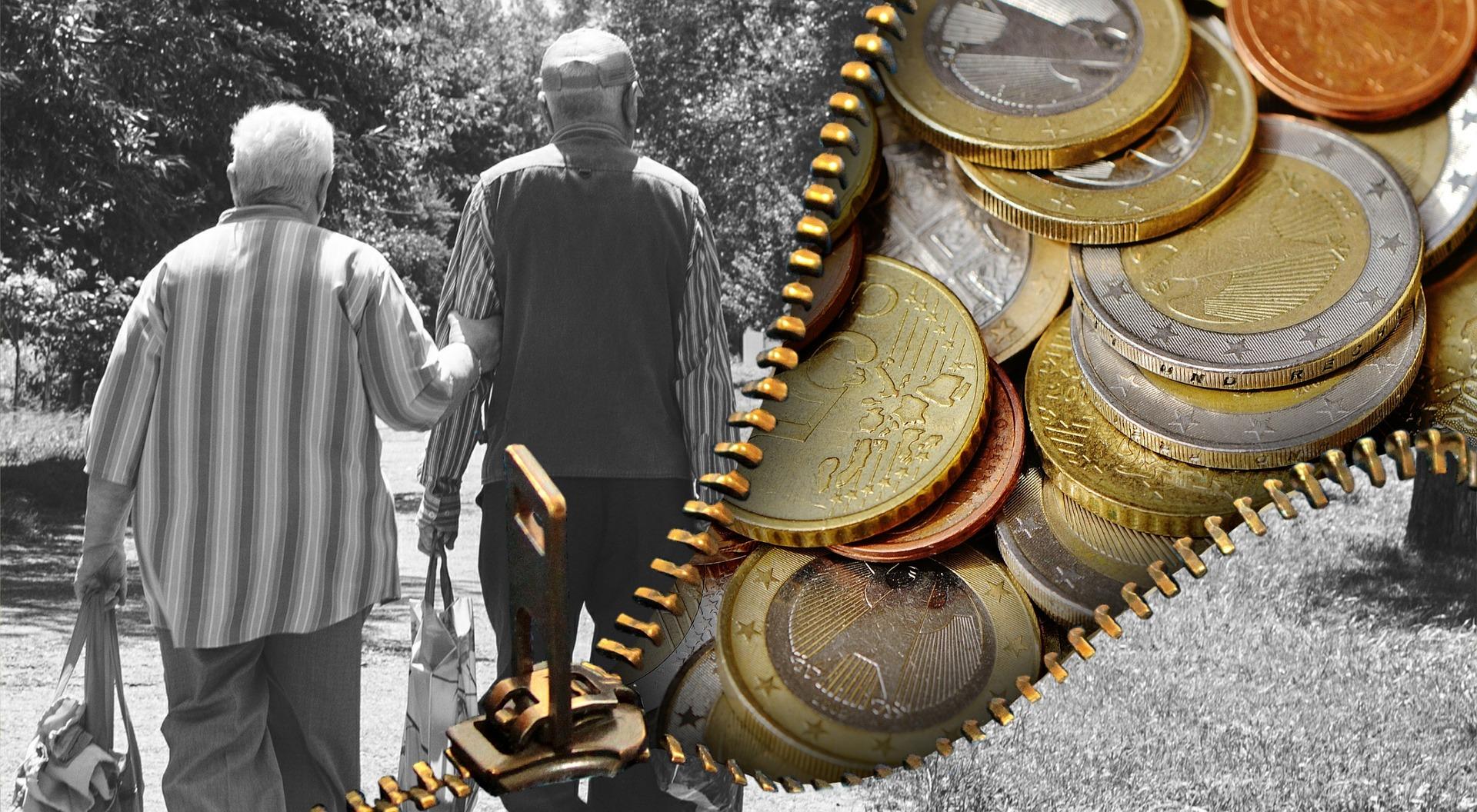 Stariji ljudi mirovina novac