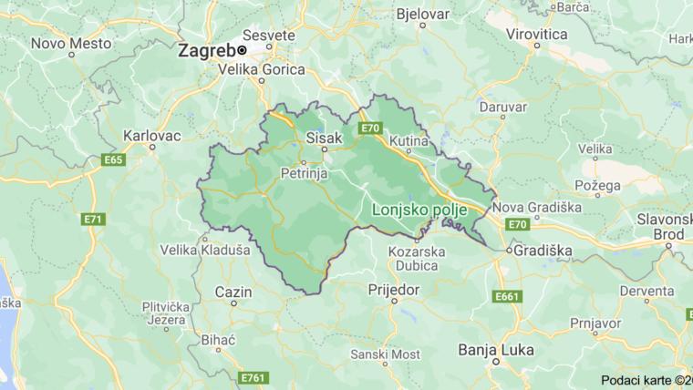karta Sisačko-moslavačke županije